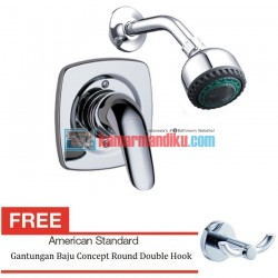 American Standard Kran Saga In Wall Single-Lever Bath&Shower Mixer WF-1522.701.50 Free Gantungan Baju Concept Round Double Hook