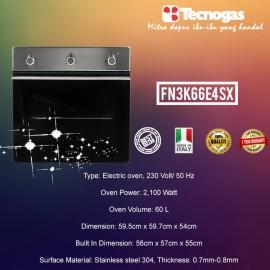 Tecnogas FN3K66E4SX Electric Oven