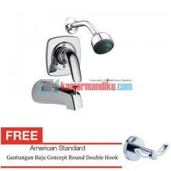 American Standard SAGA IN WALL SINGLE-LEVER B&S MIXER Free Gantungan Baju Concept Round Double Hook