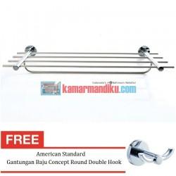 American Standard Rak Handuk Seva Towel Shelf Free Gantungan Baju Concept Round Double Hook
