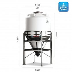 Penguin Silo Tank TV 800 (Including Feet)