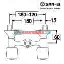 hot and cold faucets san-ei K35c-x