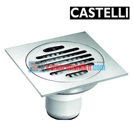 Floor Drain size 100 x 100 x 70 mm 1195104 CASTELLI