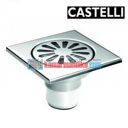 Floor Drain size 100 x 100 x 70 mm 1195105 CASTELLI