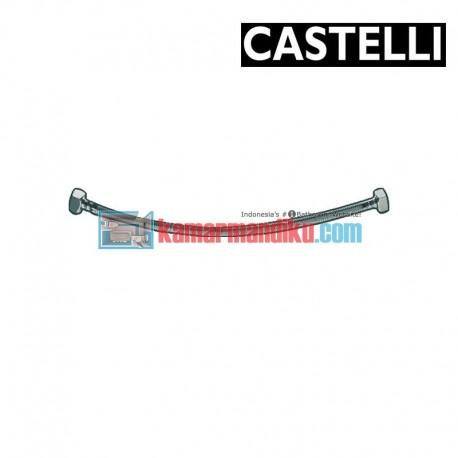 """PEX Flexible Hose 300 mm F1/2"""" x F1/2"""" , SS braided 1175901-30 CASTELLI"""