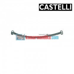 "PEX Flexible Hose 500 mm F1/2"" x F1/2"" , SS braided 1175901-50 CASTELLI"