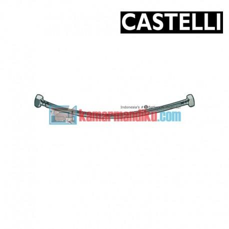 """PEX Flexible Hose 500 mm F1/2"""" x F1/2"""" , SS braided 1175901-50 CASTELLI"""