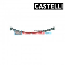 "PEX Flexible Hose 600 mm F1/2"" x F1/2"" , SS braided 1175901-60 CASTELLI"