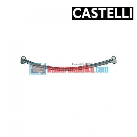 """PEX Flexible Hose 600 mm F1/2"""" x F1/2"""" , SS braided 1175901-60 CASTELLI"""