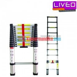 Liveo Tangga Single Telescopic Ladder LV 202 (3.8 m)