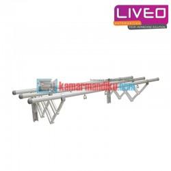 Liveo GW 379A jemuran dinding 3 Bars Aluminium