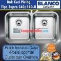 Blanco Bak Cuci Piring Stainless Steel tipe Supra 340/340-U