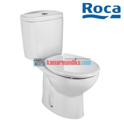Roca Victoria Vitreous china close-coupled WC with vertical outlet. S-Trap 500 mm. Dual flush 4.5/3L