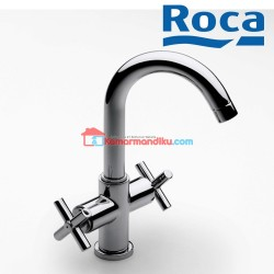 Roca Basin mixer with pop-up waste