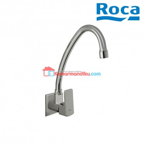 Roca Keran kitchen sink with high spout