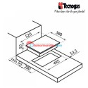 Tecnogas Premium PN381S2B Built in Hob