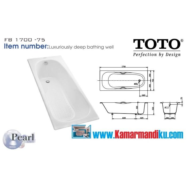 Ukuran Bathtub Toto
