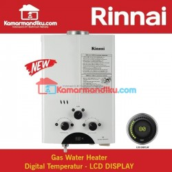 RINNAI REU-5CFC Water Heater Gas ORIGINAL Dengan Digital Display