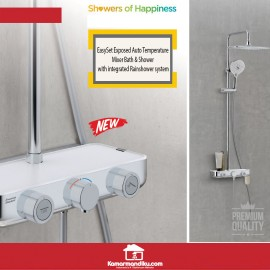 American Standard Easy Set Exposed Bath Shower Integrated Rain system
