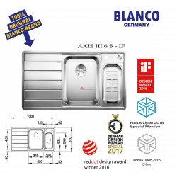 Bak cuci piring BLANCO AXIS 6 S - IF