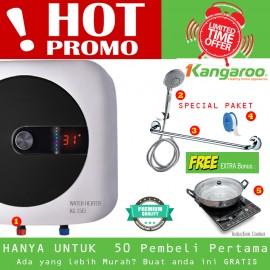 Special package Kangaroo Water heater pemanas air 15 liter free gift Ex Vietnam