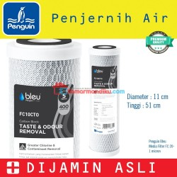 Media filter saringan air 20 inch / catridge filter CTO PENGUIN bleu