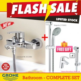 Grohe Flash Sale Set keran bathtub shower Mewah Eurosmart Panas dingin