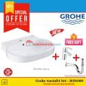 Grohe paket Set wastafel New Eurocosmo 39291000 basin stock terbatas