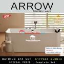 Arrow Bathtub spa air bubble Pool massage set whirpool jazucci Aq1666UQ