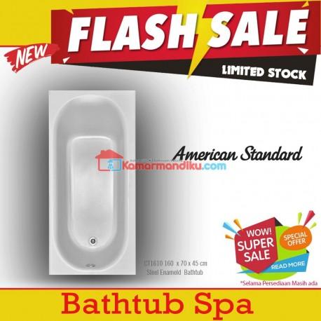 Flash Sale Bathtub American Standard steel enameld 160 cm with hand grips