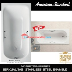 American Standard New Bathtub spa CT 1610 with hand grips steel enameld