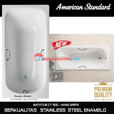 American Standard New Bathtub spa CT 1610 with hand grips steel enameld