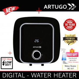 Artugo Premium pemanas air HE10F Low watt digital 10 thn garansi
