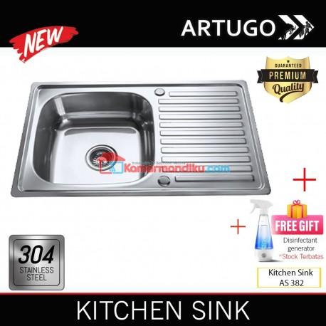 Artugo Kitchen sink AS 231 bak cuci piring stainless steel 304 Premium