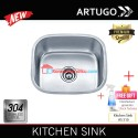 Artugo Kitchen sink AS 310 bak cuci piring stainless steel 304 Premium Under mount sinks