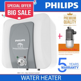 Philips New Water Heater pemanas air 15 L + penjernih air Pre filter