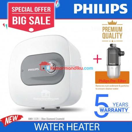 Philips Water Heater pemanas air 10 liter low watt + pre water filter