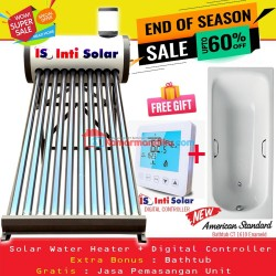 Special Package INTISOLAR water heater+ bathtub american standard
