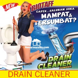 Biotaff Drain Cleaner Powder Anti Sumbat Mampet Serbuk kloset kitchen