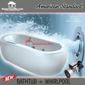 American Standard Bathtub Spa Acacia 1.7 M + whirlpool set jacuzzi Spa