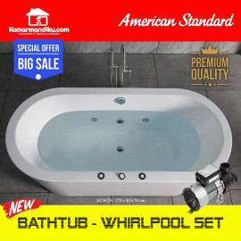 American Standard Bathtub Spa Acacia 1.7 M + whirlpool set jacuzzi Spa