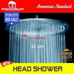 American standard IDS rain shower head spare part 30 cm w/o arm cocok untuk pengganti toto grohe roca
