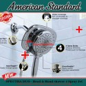 American Standard In wall Spectra duo 3in1 shower 4 spray jet hot cool