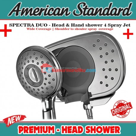 American Standard new Spectra duo 2in1 head hand shower 4 spray jet