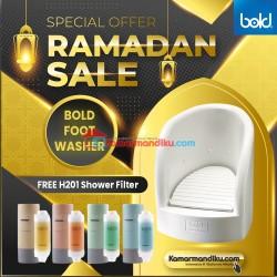 Beli Bold Foot washer/alat wudhu dapat 1 Shower filter H201 dengan aroma pilihan paket ramadhan