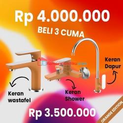 FRAP ORANGE EDITION paket kran air+shower mixer+keran dapur TERBATAS