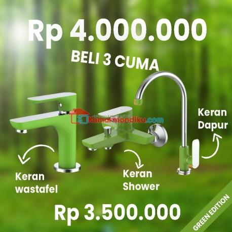 FRAP GREEN EDITION paket kran air+shower mixer+keran dapur TERBATAS