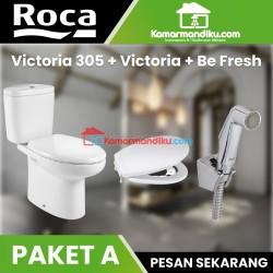 Paket Hemat ROCA | toilet + seat and cover + Shower toilet garansi