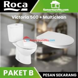 ROCA paket hemat Toilet Victoria 500 dan multiclean roca bergaransi