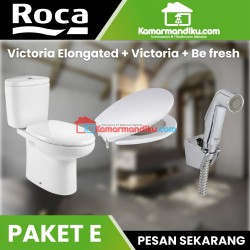 Roca paket hemat toilet victoria elongated +faucet+ seat and cover